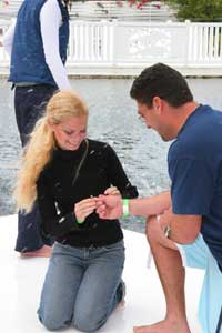 Proposing to get married with dolphins in the Florida Keys