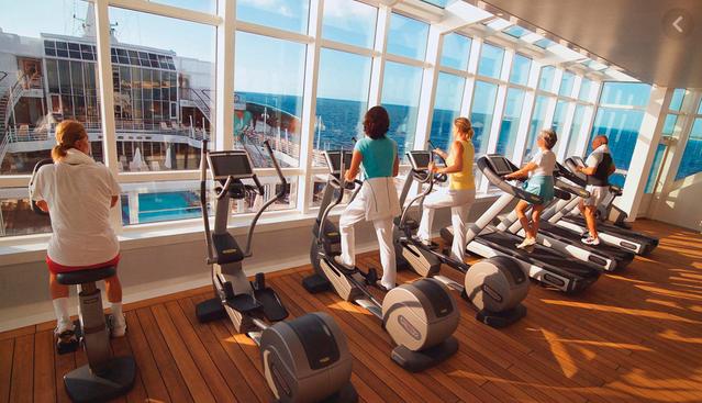 Gym on Cruise Ship