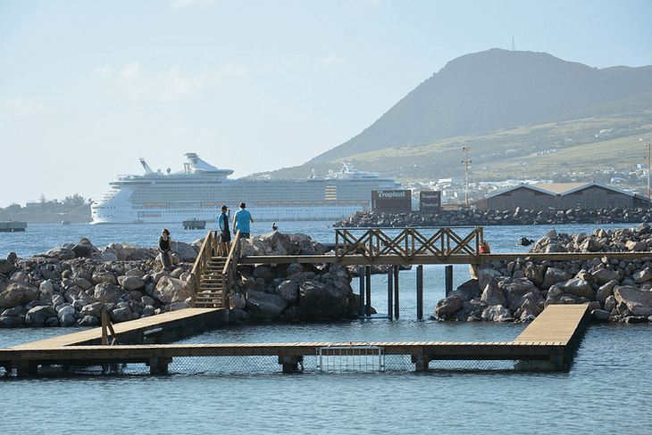 Cruise Ships and Dolphin Swims in St Kitts
