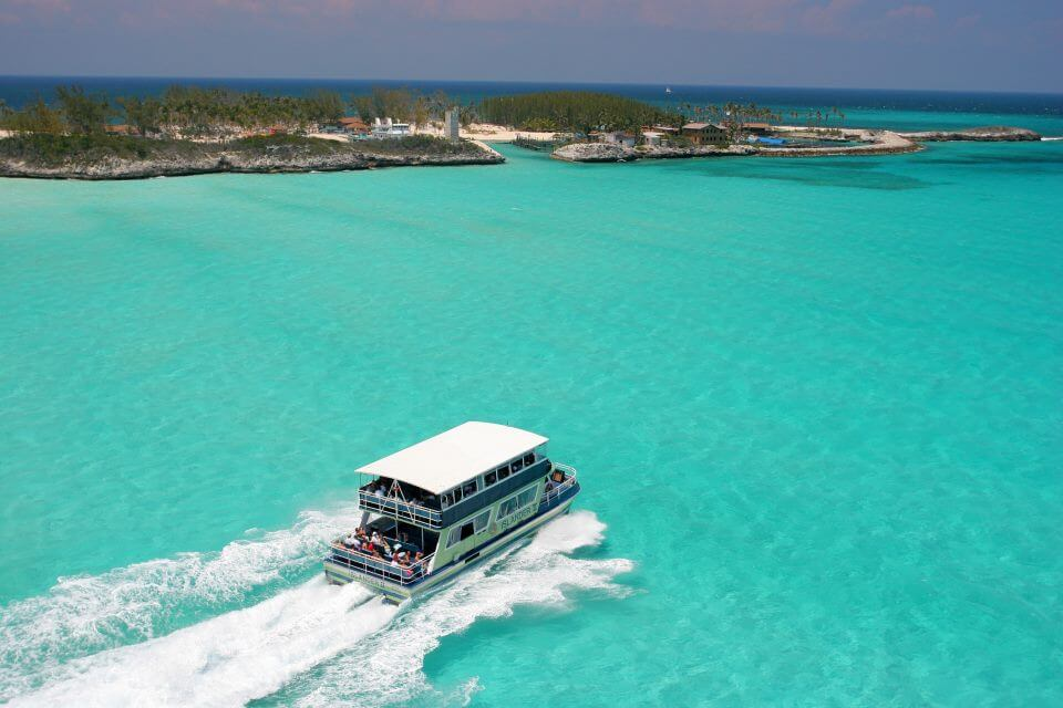 No Cost Ferry Ride to Blue Lagoon Island Nassau Bahamas